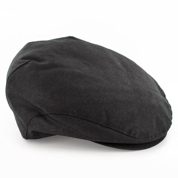 Waxed Trinity Cap in Black