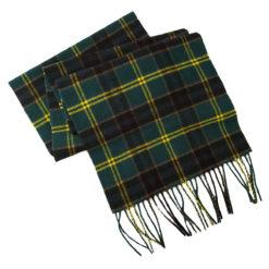 US Army Tartan Cashmere Wool Scarf