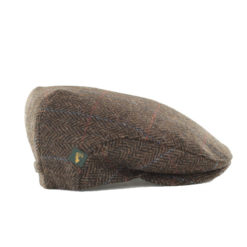 Trinity Flat Cap Tweed Brown