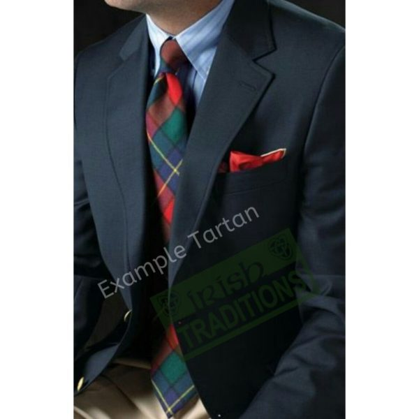 Gentleman Model wearing a Bespoke Made to Order Tartan Wool Tie in his Clan Tartan