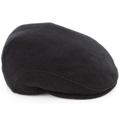 Trinity Flat Cap Wool Tweed Black