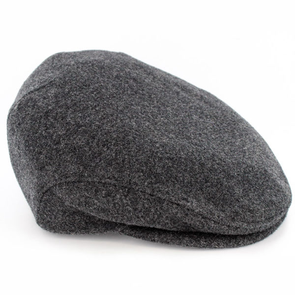 Trinity Flat Cap Tweed Charcoal