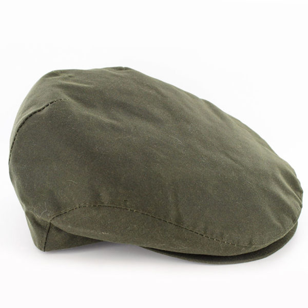 Waxed Trinity Cap in Olive