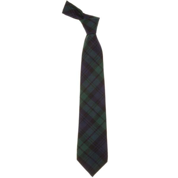 Black Watch Modern Tartan Scottish Wool Neck Tie