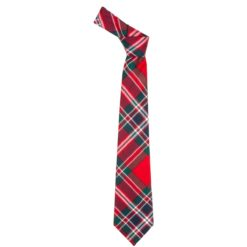 MacFarlane Clan Red Modern Tartan Wool Neck Tie