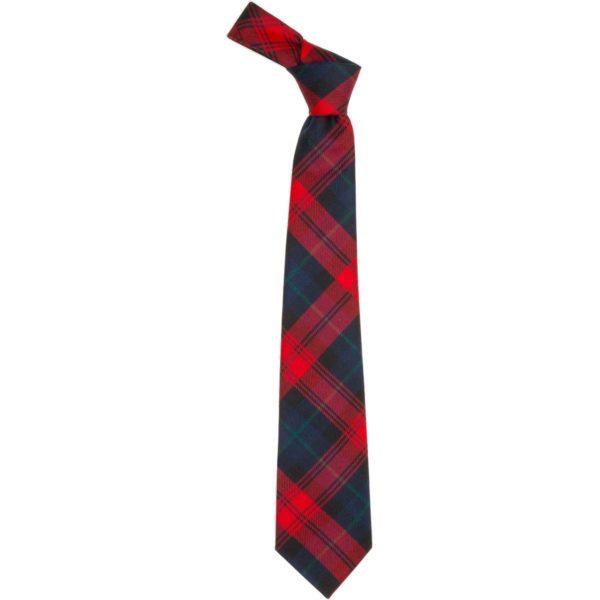 MacLachlan Red Modern Tartan Wool Neck Tie