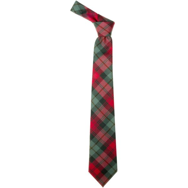 MacLachlan Red Weathered Tartan Wool Neck Tie