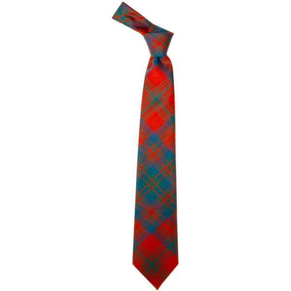 Matheson Clan Red Ancient Tartan Wool Neck Tie