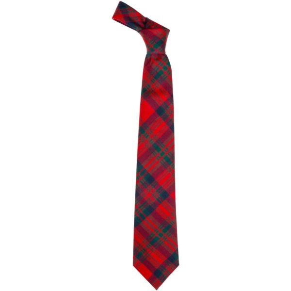 Matheson Clan Red Modern Tartan Wool Neck Tie