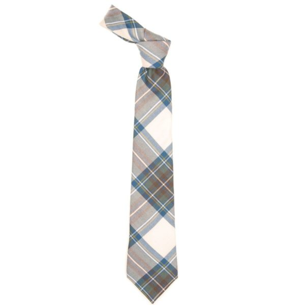 Stewart Clan Blue Dress Tartan Scottish Wool Neck Tie