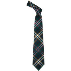 Scott Clan Green Modern Tartan Scottish Wool Neck Tie