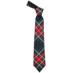 Stewart Black Modern Tartan Wool Neck Tie