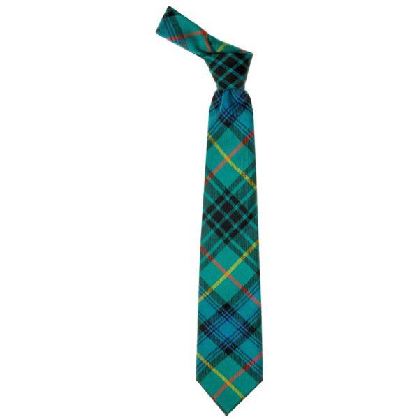 Stewart Hunting Ancient Tartan Wool Neck Tie