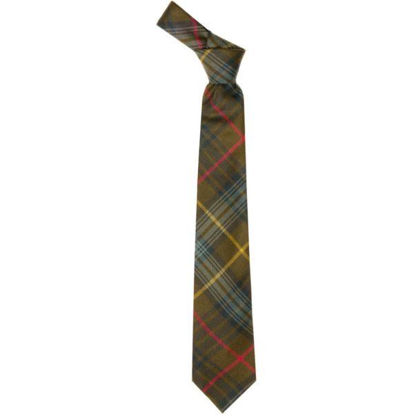 Stewart Hunting Weathered Tartan Wool Neck Tie