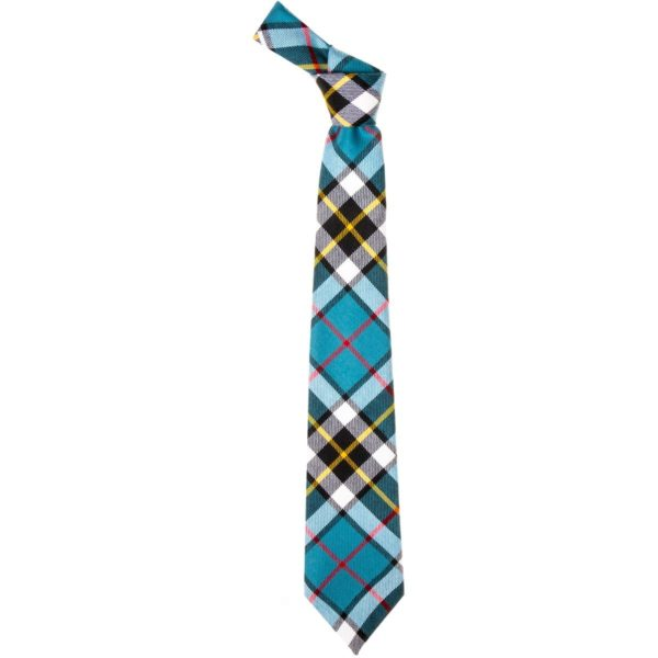 Thompson Clan Blue Tartan Wool Neck Tie