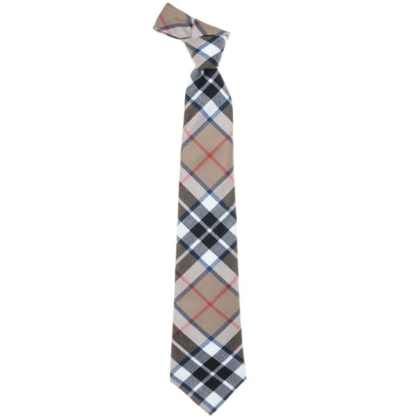 Thompson Clan Camel Tartan Wool Neck Tie