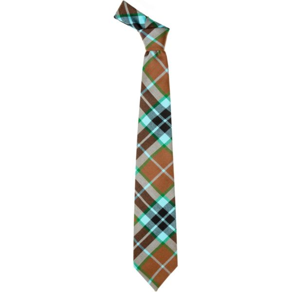 Thompson Clan Hunting Ancient Tartan Wool Neck Tie