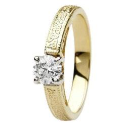 Celtic Trinity Knot Engagement Ring 14K