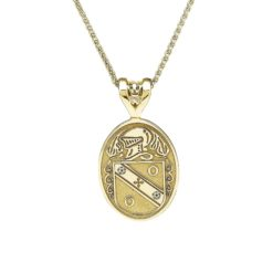 Oval Pendant Coat of Arms Jewelry Yellow Gold