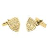 Shield Cufflinks Yellow Gold