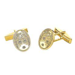 Small Oval Cufflinks YG Custom Coat of Arms
