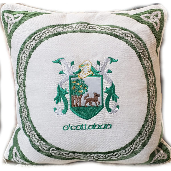 Embroidered Pillow Heraldry Crests Coats of Arms