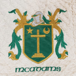 Embroidered Green Throw Heraldry Crests Coats of Arms
