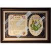 Heraldry Coat of Arms Family Tribute Framed Bronze Linen