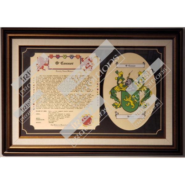 Heraldry Coat of Arms Family Tribute Framed Bronze Linen