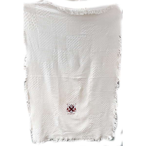 Coat of Arms Cotton Throw Extended