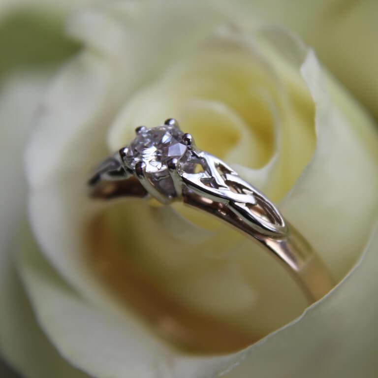 97805541fe642 Celtic Engagement Ring - Mount Only