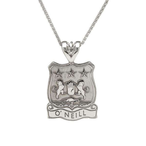 Shield Pendant Coat of Arms Jewelry Stirling Silver