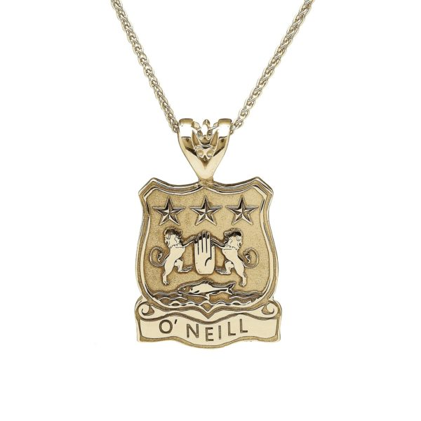 Shield Pendant Coat of Arms Jewelry Yellow Gold