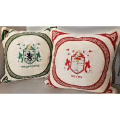 Embroidered Pillows Heraldry Crests Coats of Arms