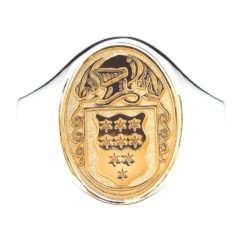 Oval Ladies Coat of Arms Ring 1 Mixed Metal