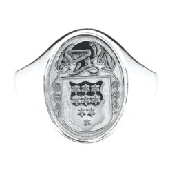 Oval Ladies Coat of Arms Ring 1 SS