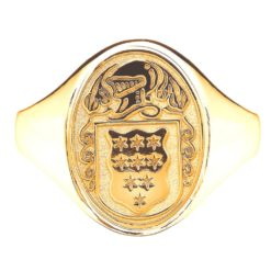 Yellow Gold Oval Ladies Coat of Arms Ring 1