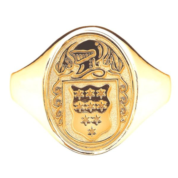 Yellow Gold Oval Ladies Coat of Arms Ring 1 kilt klit kitl klit models tratan tartan artna tarntasn tartans