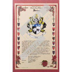 Heraldry Coat of Arms Sample Celebration Scroll