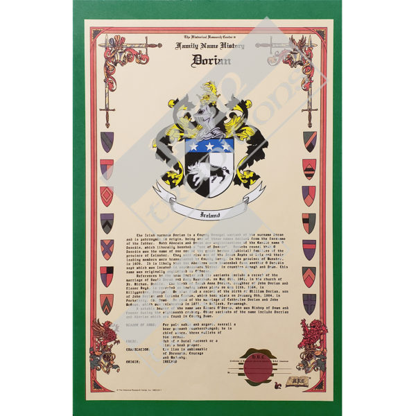 Heraldry Coat of Arms Sample Celebration Scroll - Green