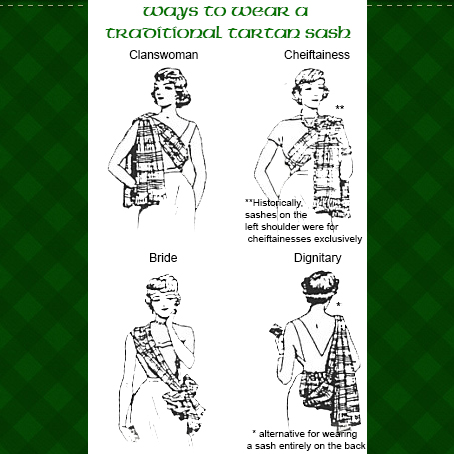 Celtic Traditions Sash Historic Example Styles