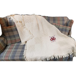 Coat of Arms Cotton Throw Displayed