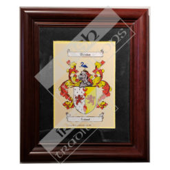 Single Coat of Arms Print Black Matting