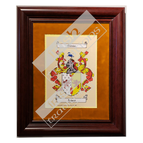 Single Coat of Arms Print Orange Matting