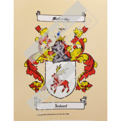 Single Coat of Arms Print Unframed