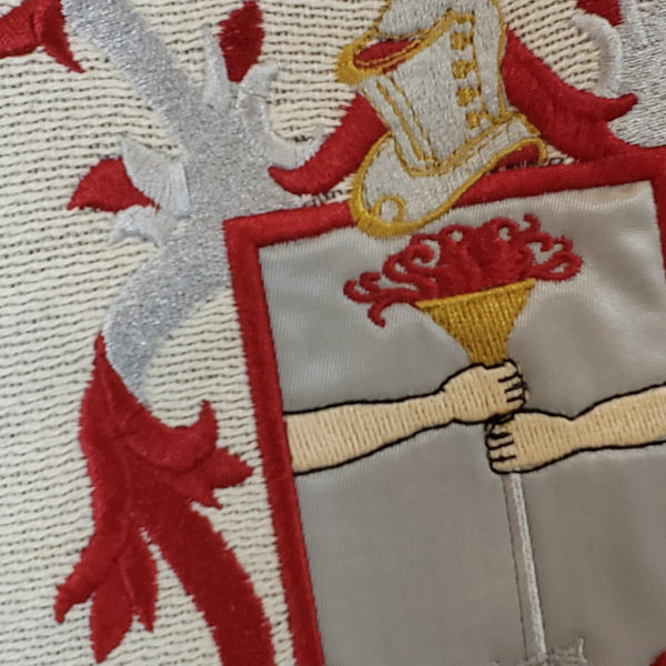 Coat of Arms Embroidery Detailed Pillow
