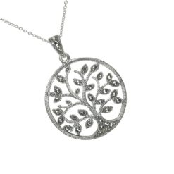 Marcasite Tree of Life Pendant Anu1005 Large