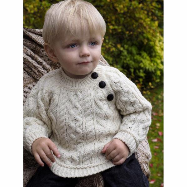 Three Button Baby Crew Sweater