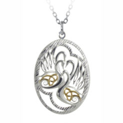 Childrenof Lir Pendant Silver Gold Plated Wings