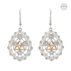 Irish Lace Rose Trinity Earrings